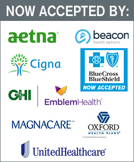 Aetna, Beacon, Cigna, GHI-Emblem Health, Magnacare, Oxford Health Plans, United Healthcare, Blue Cross/Blue Shield coming soon